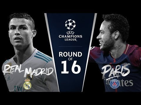 UEFA Champions League Round Of 16 Draw 2017 -18 HD