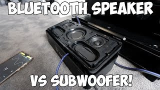 BLUETOOTH SPEAKER POWERS LARGE SUBWOOFERS!