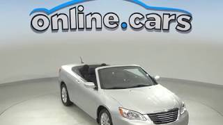 A10156GT Used 2012 Chrysler 200 Touring FWD 2D Convertible Silver Test Drive, Review, For Sale