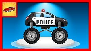 Desene cu Masini - Masina de Politie Patrulare si Urmarire - Transforma Masina 2