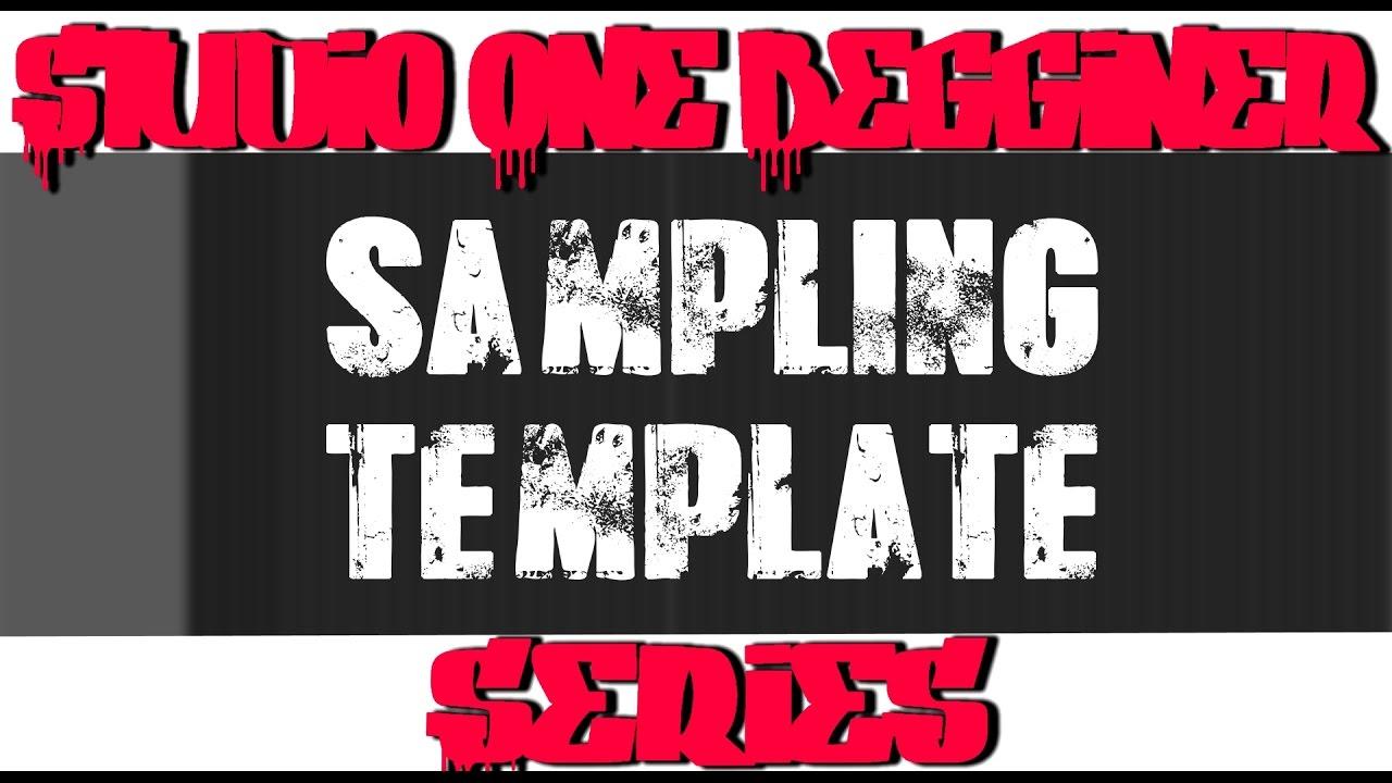 Presonus Studio One Producer Series Beginner Sampling Template ...