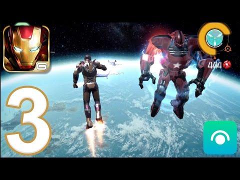 Iron Man 3: The Official Game - Gameplay Walkthrough Part 3 - CRIMSON DYNAMO! (iOS, Android)