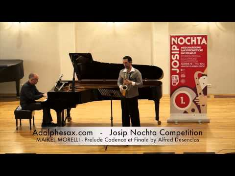 Josip Nochta Competition   MAIKEL MORELLI   Prelude Cadence et Finale by Alfred Desenclos