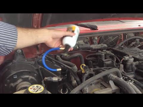 Carga de gas refrigerante r134a con estaci n manual for Cargar aire acondicionado casa