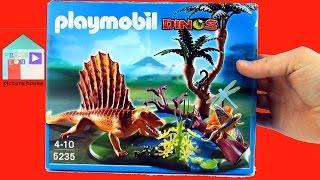 Playmobil Dinos - Dimetrodon Dinosaur in swamp (5235) unboxing - Toy Jurassic Dinosaur