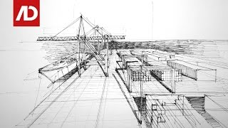 Drawing Port of Gdańsk | Daily Architecture Sketches #22
