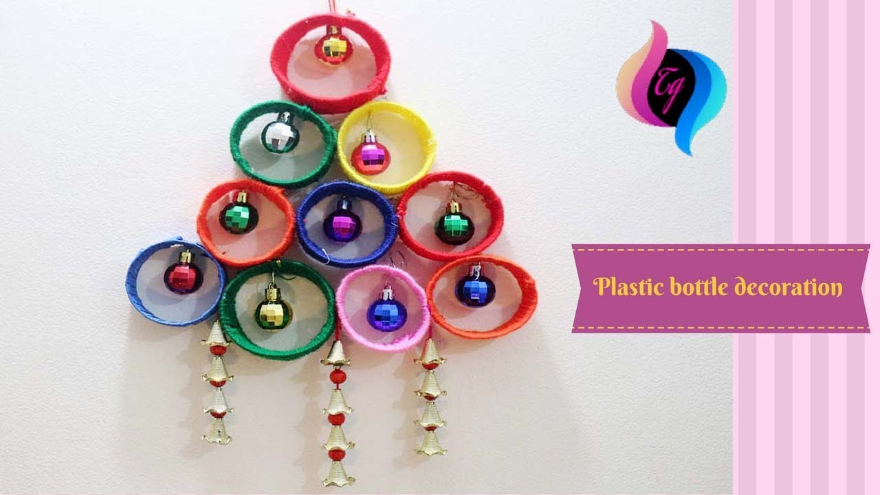 Diy wall decoration ideas what to make with empty for Plastic bottle decoration images