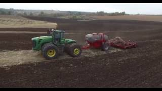 John Deere 9630 + Horsch Tiger 6MT with 2 types fertilizers bunker
