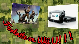 How to PRETEND to play Fortnite on Wii U (100% Working) (Not clickbait)| AlexHero64 playz