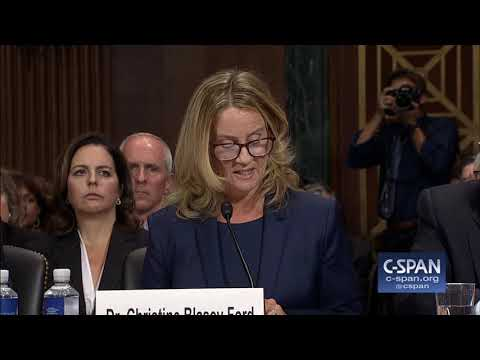 Professor Christine Blasey Ford Opening Statement -- FULL VIDEO -- (C-SPAN)