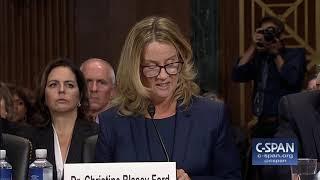 Professor Christine Blasey Ford Opening Statement -- FULL VIDEO -- (C-SPAN)
