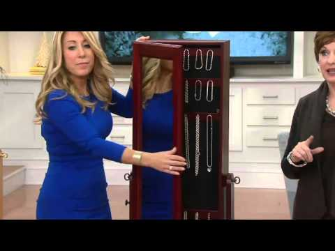Gold & Silver Safekeeper Double-Sided Jewelry Armoire by Lori Greiner on QVC