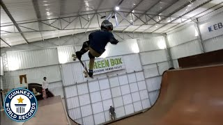 First skateboarding 1080 on a vertical ramp - Guinness World Records