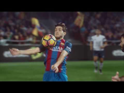 """اعلان اتصالات مع لاعبي برشلونة """" FC Barcelona  etisalat ad """""""