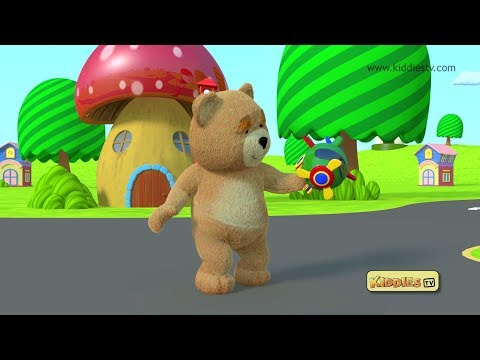 Teddy bear toys and helicopter | Best Kindergarten | Kids | Parenting | Preschool Baby | Kiddiestv