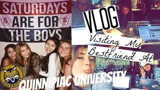 WEEKEND VLOG Visiting my Bestfriend at QUINNIPIAC UNIVERSITY: Eating, Studying, & Random Stuff