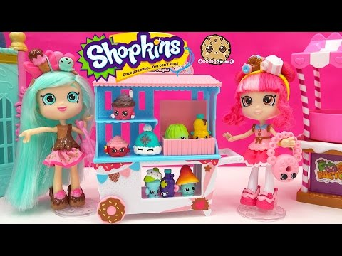 Season 4 Shopkins 12 Pack Unboxing At Shoppies Doll Donatina's Donut Delights Cart
