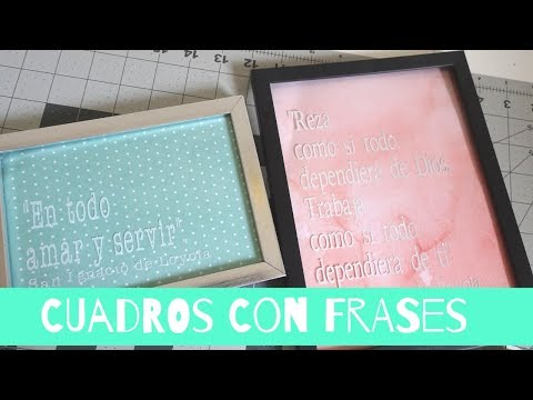DIY Cuadros con FRASES SUPER FACIL|GIVEAWAY TIME|CRAFTCATOL