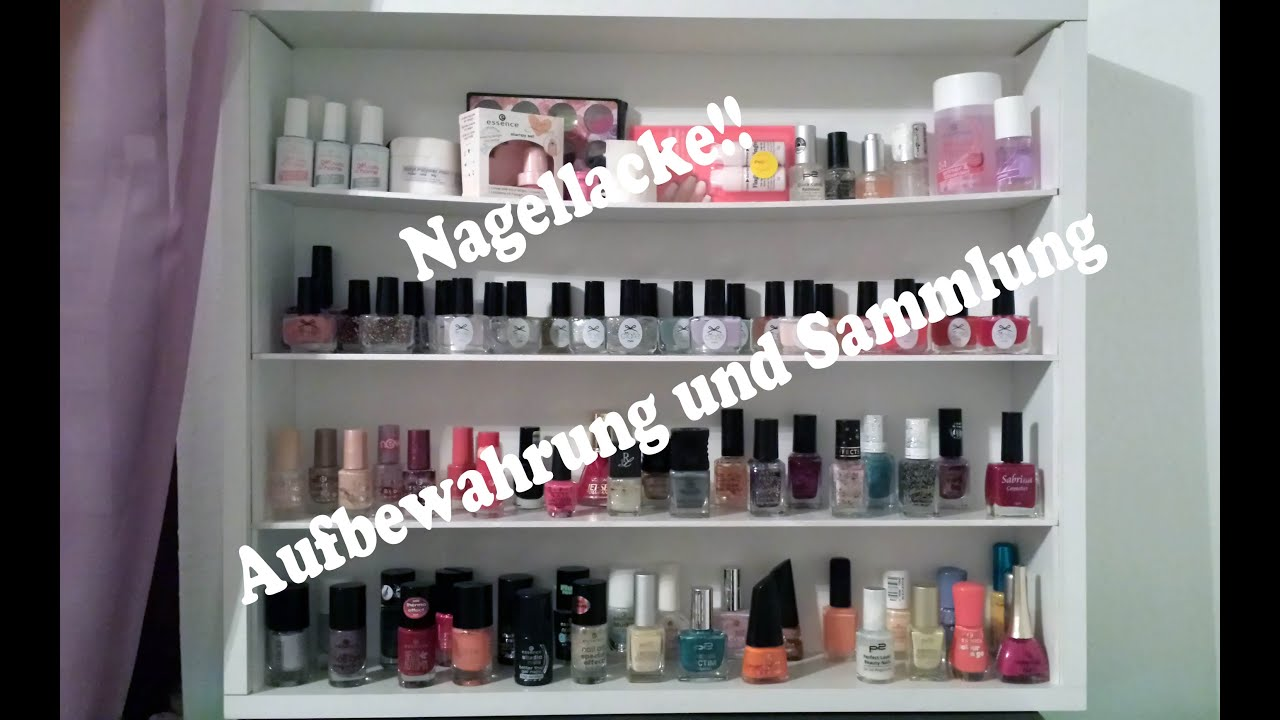 Nagellacke - DIY Aufbewahrung, Collection und Bloopers - YouTube