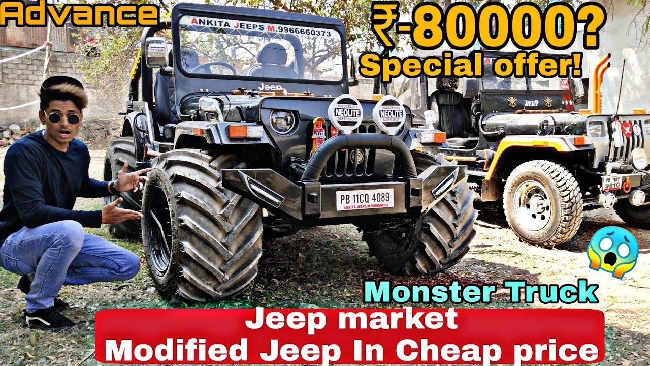 Cheapest Jeep Market In Hyderabad Custom Modified Thar Jeep