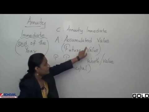 Annuity Introduction & forumlas