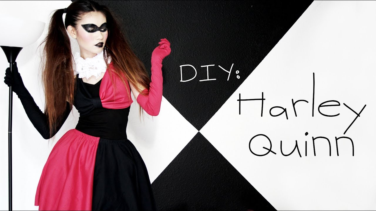 diy harley quinn costume halloween youtube solutioingenieria Image collections