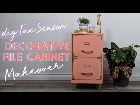 Simple DIY File Cabinet Makeover!