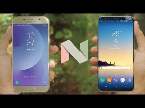 Galaxy A7 2017 Nougat 7.0 vs Galaxy S8+   Quick Comparison