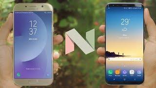 Galaxy A7 2017 Nougat 7.0 vs Galaxy S8+ | Quick Comparison