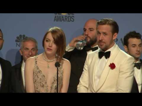 Ryan Gosling, Emma Stone & La La Land - Golden Globes 2017 - Full Backstage Interview