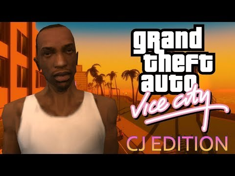 CJ In GTA Vice City