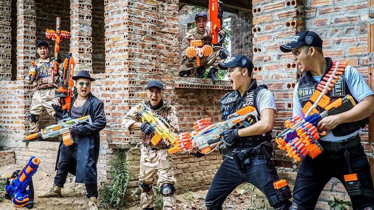 LTT Nerf War : Police Patrol SEAL X Warriors Nerf Guns Fight Dr.Lee Crazy Brutal Plunderer