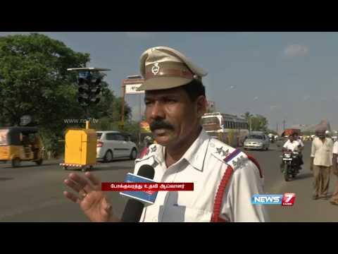 Madurai gets mobile solar traffic signal light system