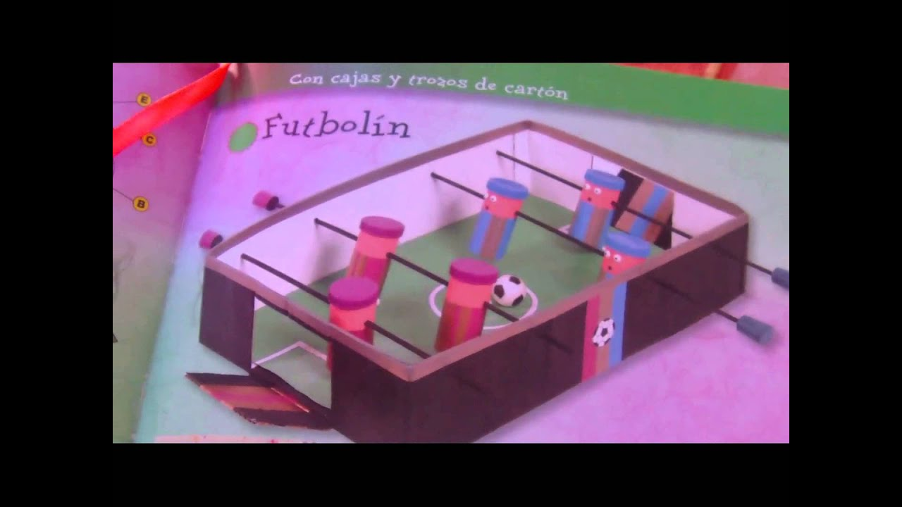 Tutorial futbolin reciclando caja y tubos de papel  YouTube