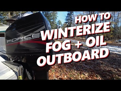 How to DIY Winterize 2 Stroke Outboard Engine | Mercury Force 120HP