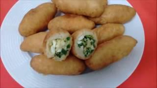 Пирожки хрустящие с зелёным луком и яйцом!