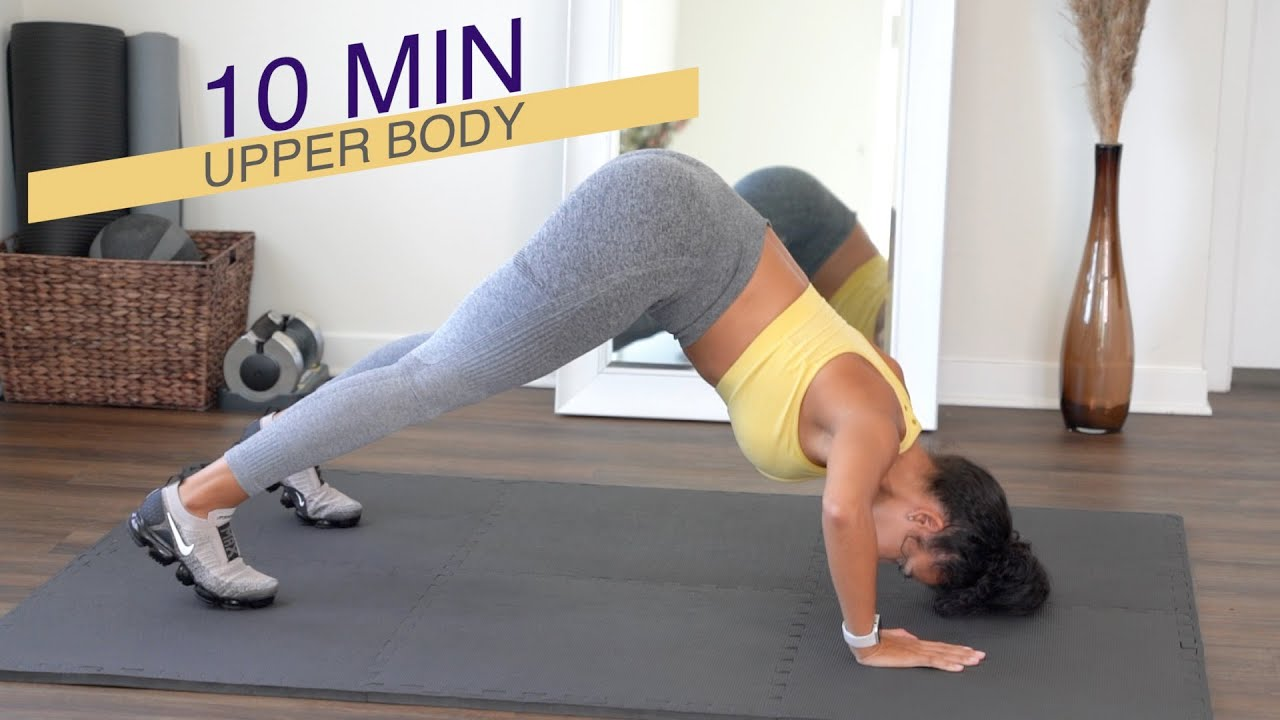 10 MIN UPPER BODY WORKOUT   NO EQUIPMENT + GIVEAWAY