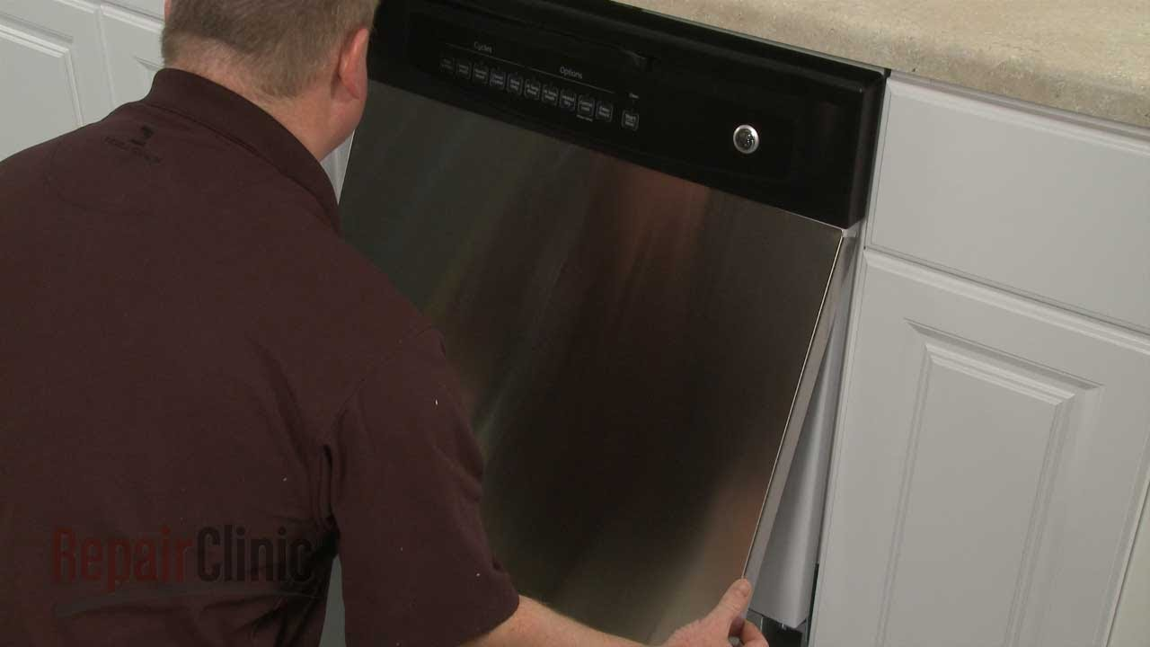 GE Dishwasher Outer Door Panel Replacement #WD27X10257   YouTube