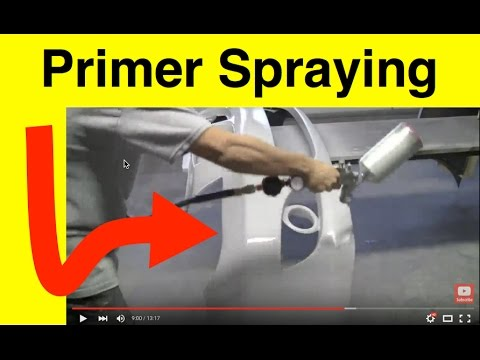 Automotive Primer Lesson How To Spray And Final Grit Sanding You