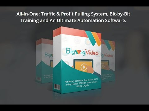 Big Wig Video Review - BigWigVideo Pro Plan Review. http://bit.ly/2UhZOhb