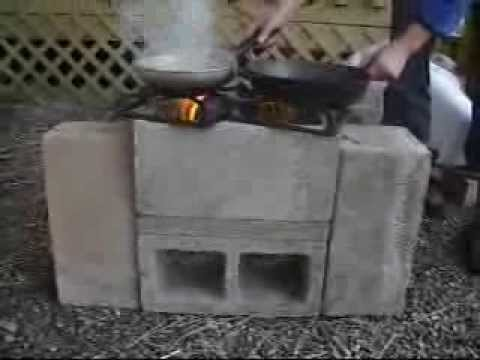 How To Make The Four Brick Double Barreled Rocket Stove