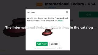 How to get the International Fordora - USA in ROBLOX (ROBLOX CATALOG)