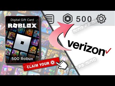 How To Get 22 500 Robux For Free How To Get 500 Robux For Free From Verizon Youtube
