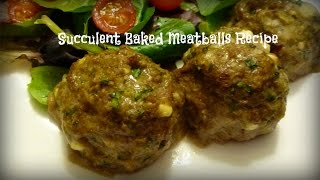 Succulent Baked Meatballs Recipe | Victoria Paikin Recipes