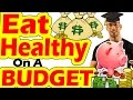 How to Eat HEALTHY on a BUDGET & Lose Weight & Gain Muscle in College High School for Teenagers Save