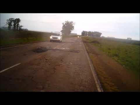 Ruta 3 a salto Uruguay con lluvia