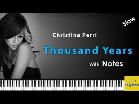 Easy piano songs for beginners / Christina Perri Thousand Years