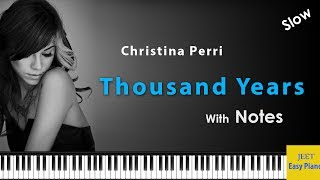Easy piano songs for beginners / Christina Perri Thousand Years