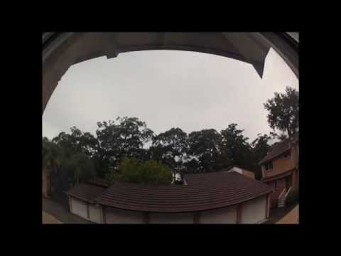 Today's weather from my place in the burbs in Sydney, NSW, Australia 04-04-2013
