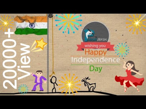 Happy Independence Day # 2D stick animation